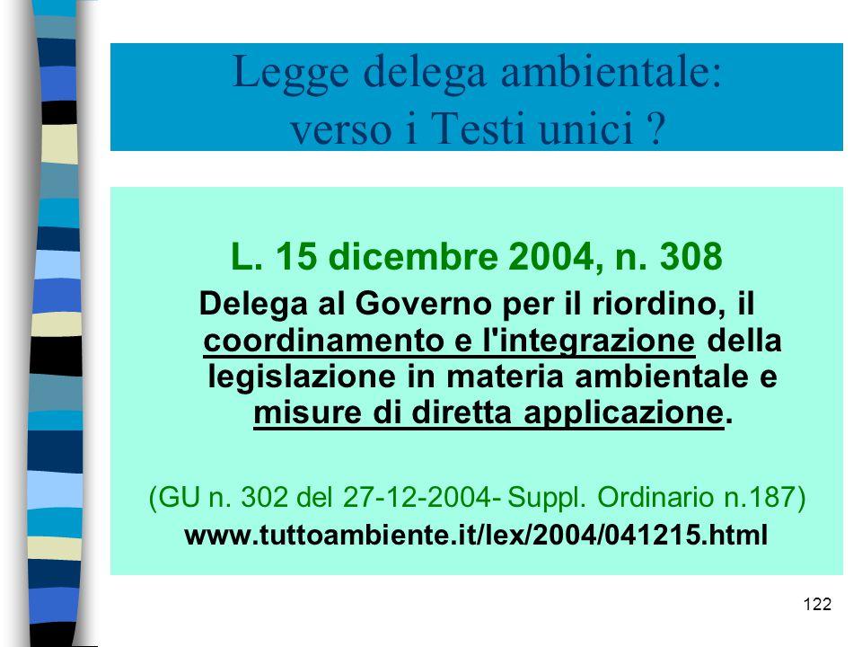 Legge delega ambientale: verso i Testi unici