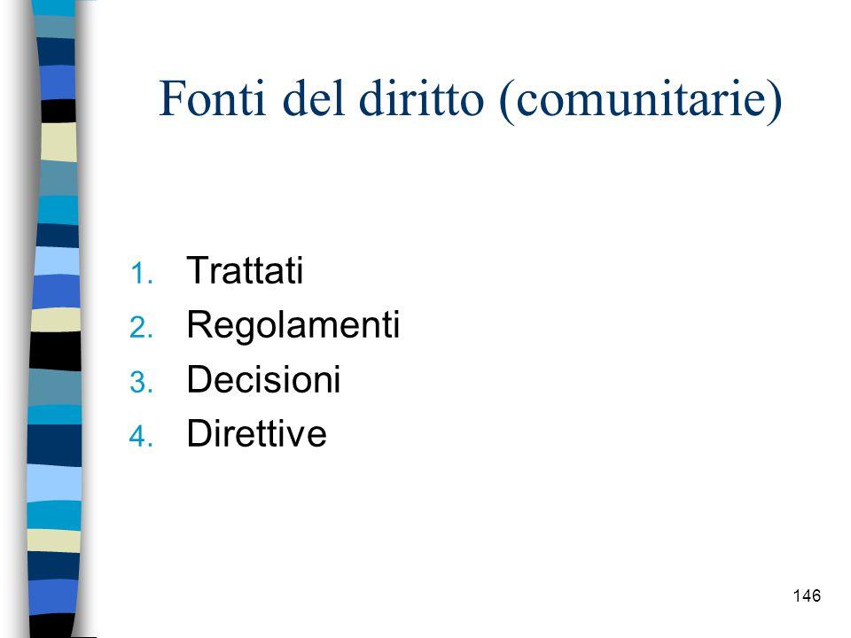 Fonti del diritto (comunitarie)