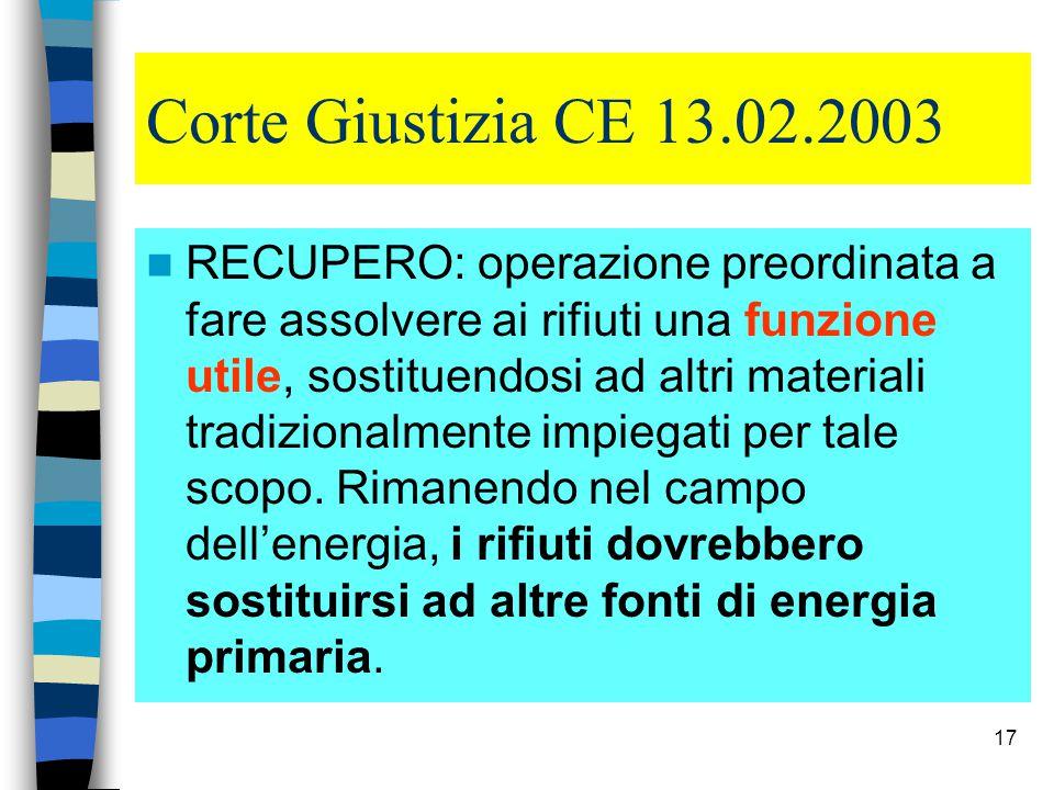 Corte Giustizia CE 13.02.2003