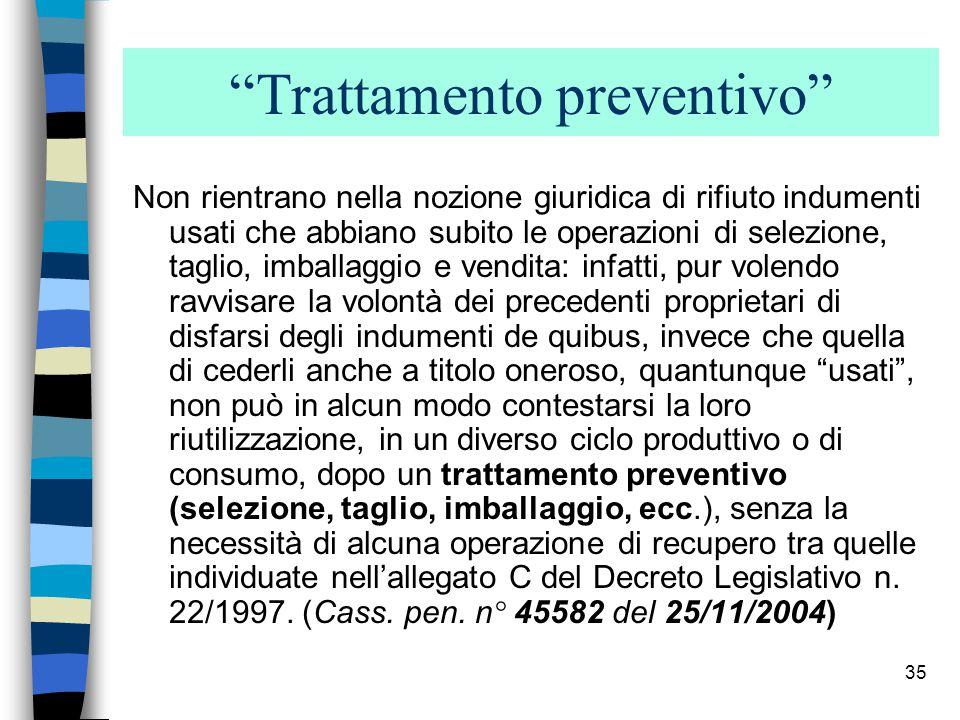Trattamento preventivo