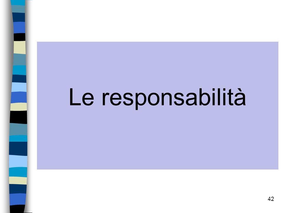Le responsabilità