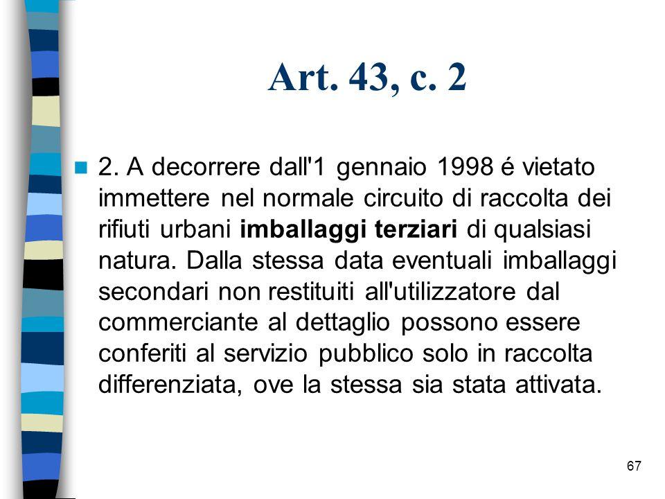 Art. 43, c. 2