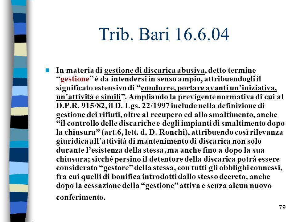 Trib. Bari 16.6.04