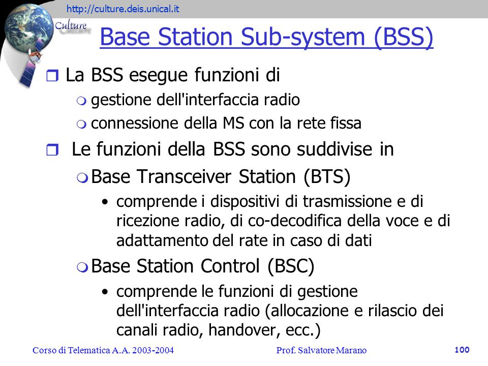 Base Station Sub-system (BSS)