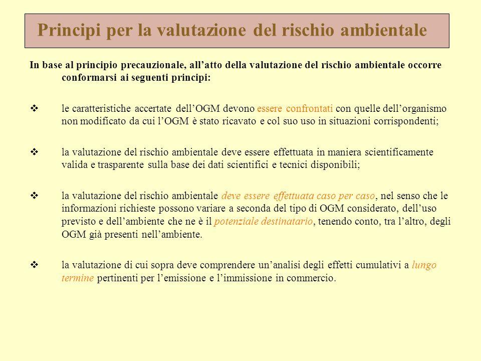 Principi per la valutazione del rischio ambientale