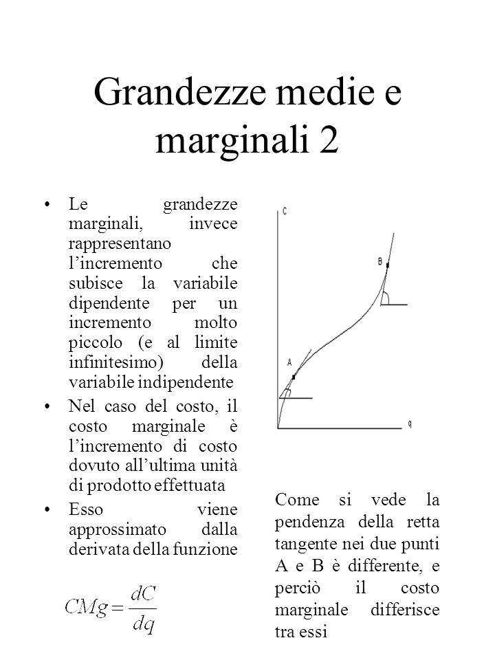 Grandezze medie e marginali 2