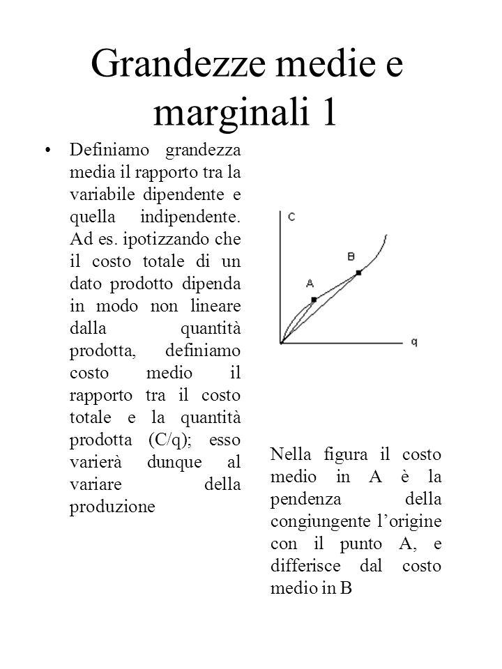 Grandezze medie e marginali 1
