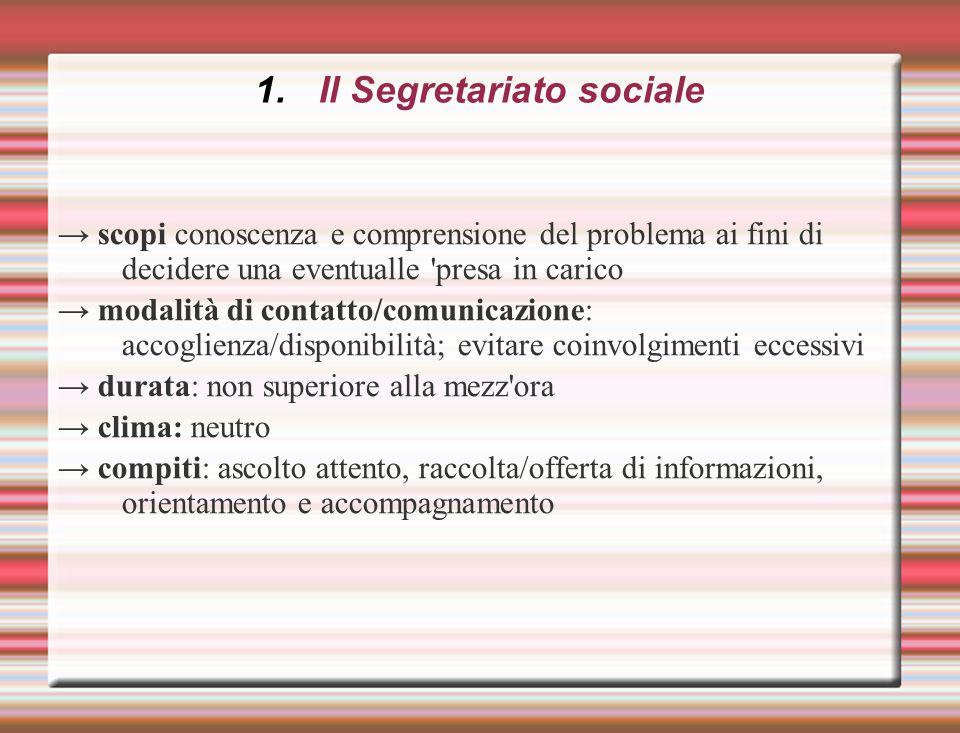Il Segretariato sociale