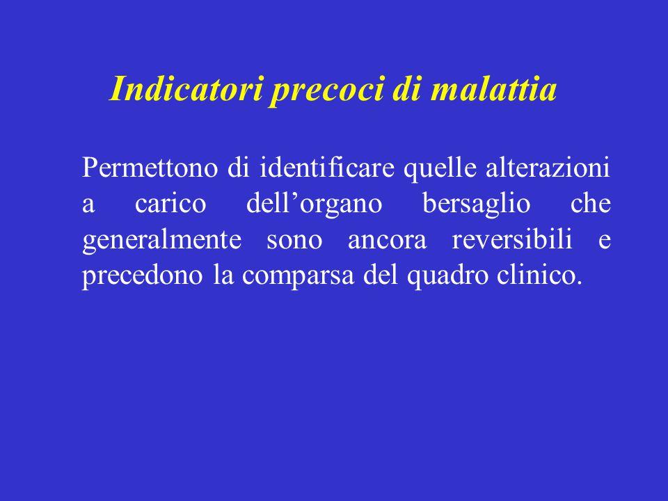 Indicatori precoci di malattia
