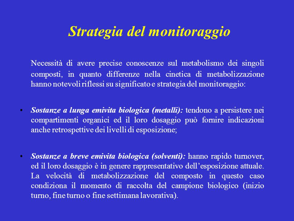 Strategia del monitoraggio