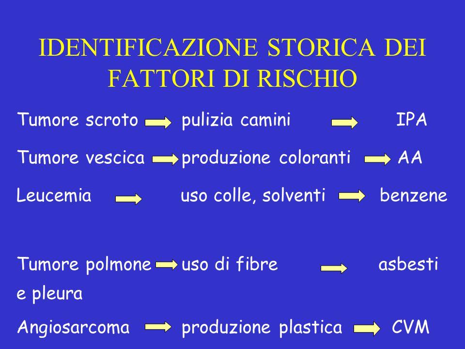 IDENTIFICAZIONE STORICA DEI FATTORI DI RISCHIO