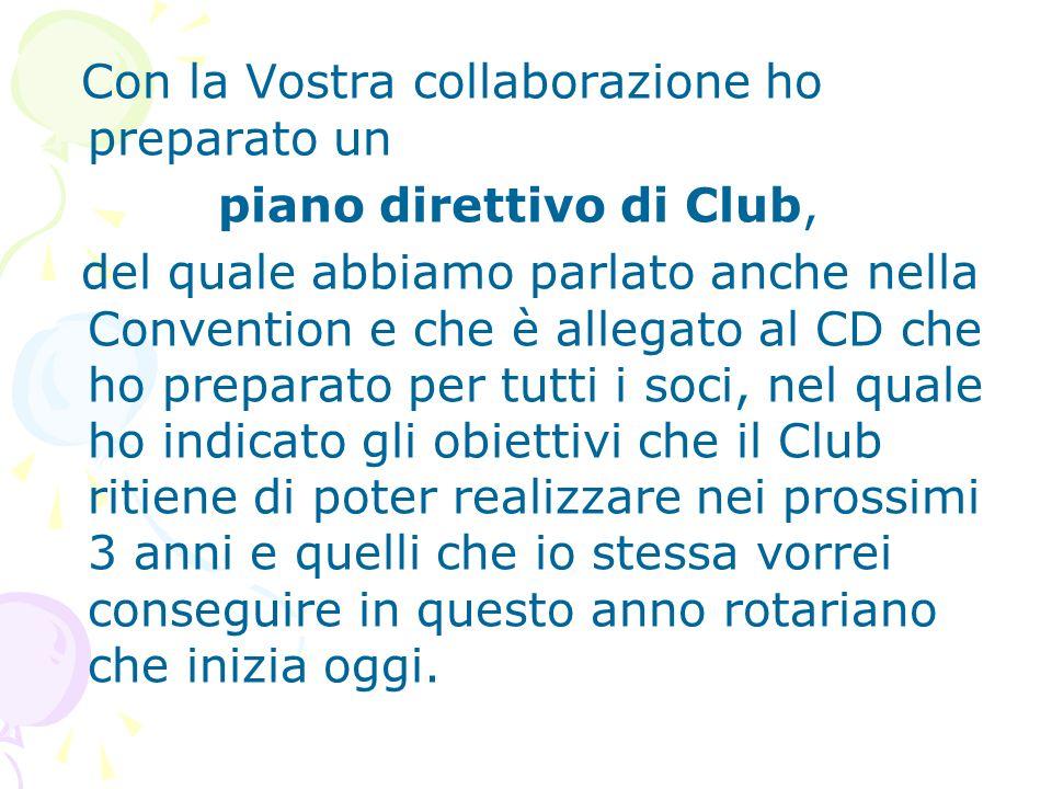 piano direttivo di Club,
