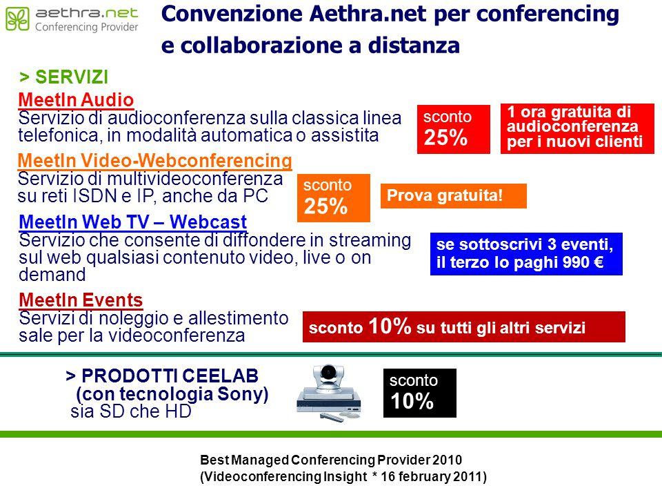 Convenzione Aethra.net per conferencing e collaborazione a distanza