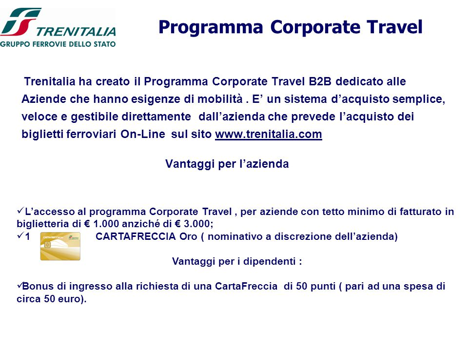 Programma Corporate Travel