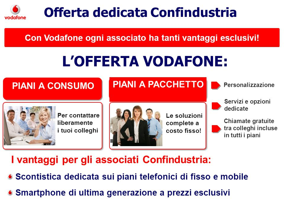 Con Vodafone ogni associato ha tanti vantaggi esclusivi!