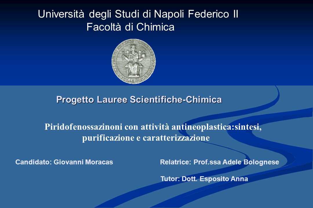 Progetto Lauree Scientifiche-Chimica