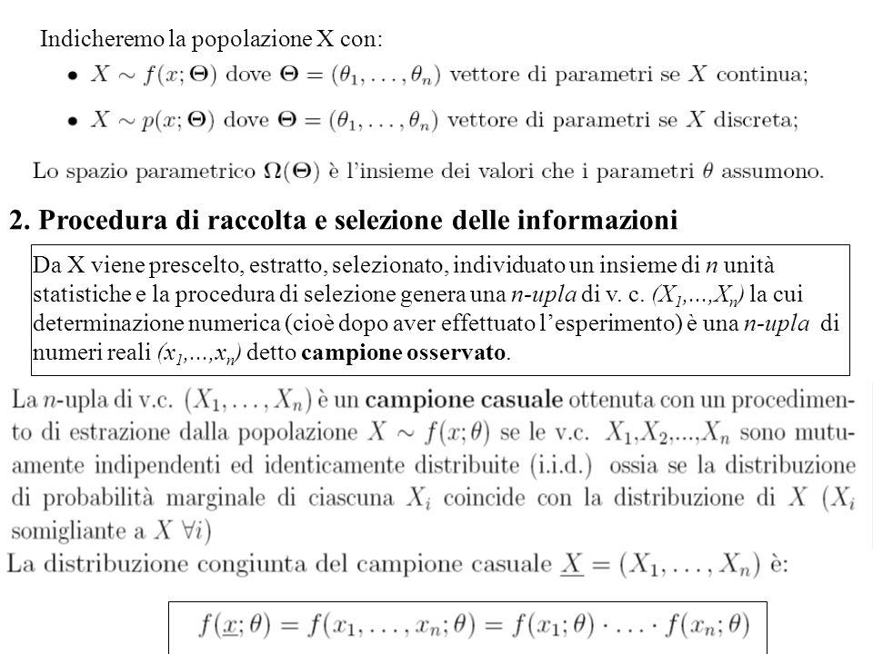2. Procedura di raccolta e selezione delle informazioni