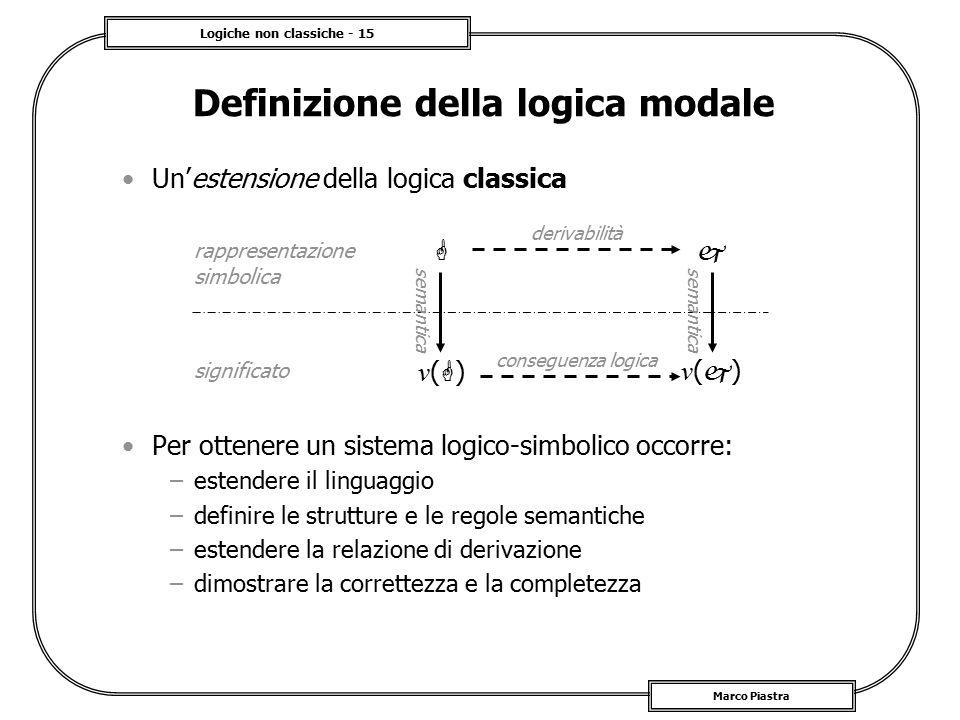 Definizione della logica modale
