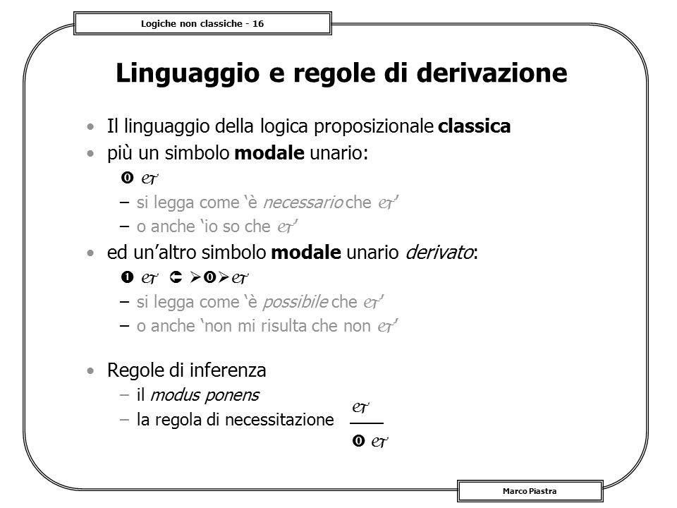 Linguaggio e regole di derivazione