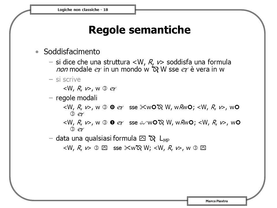 Regole semantiche Soddisfacimento