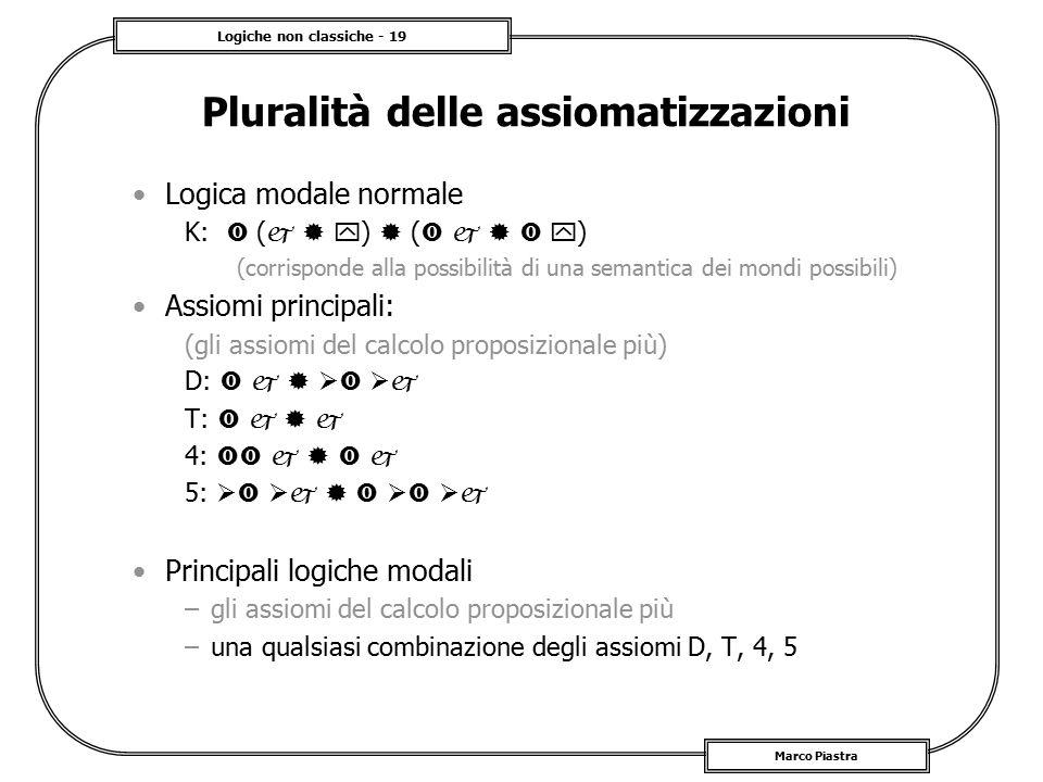 Pluralità delle assiomatizzazioni