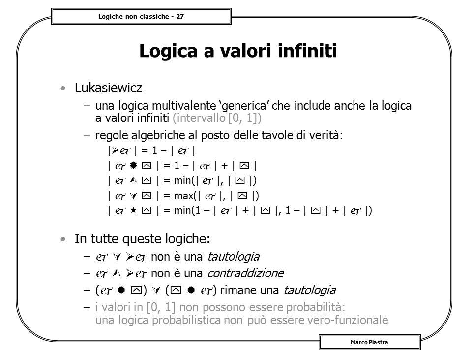 Logica a valori infiniti