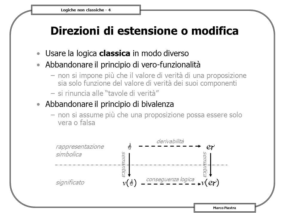 Direzioni di estensione o modifica