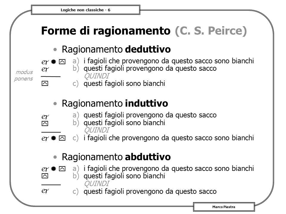 Forme di ragionamento (C. S. Peirce)
