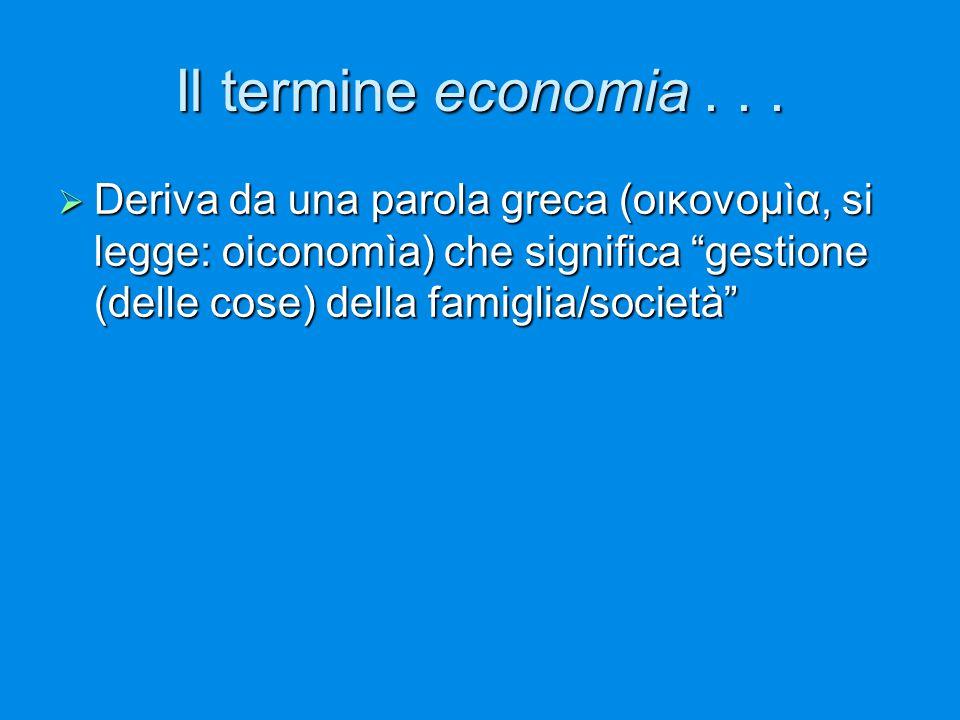 Il termine economia .