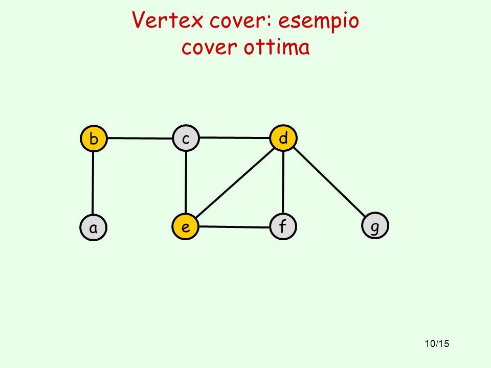 Vertex cover: esempio cover ottima