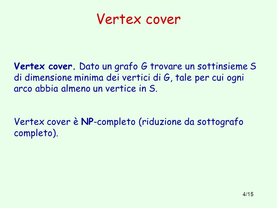 Vertex cover