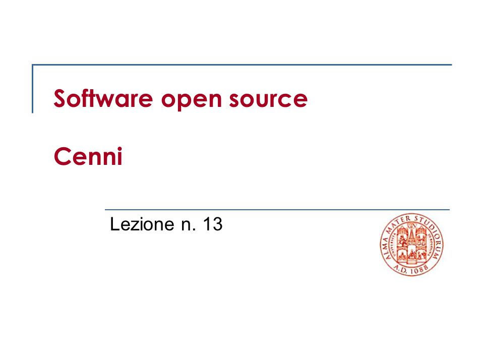 Software open source Cenni
