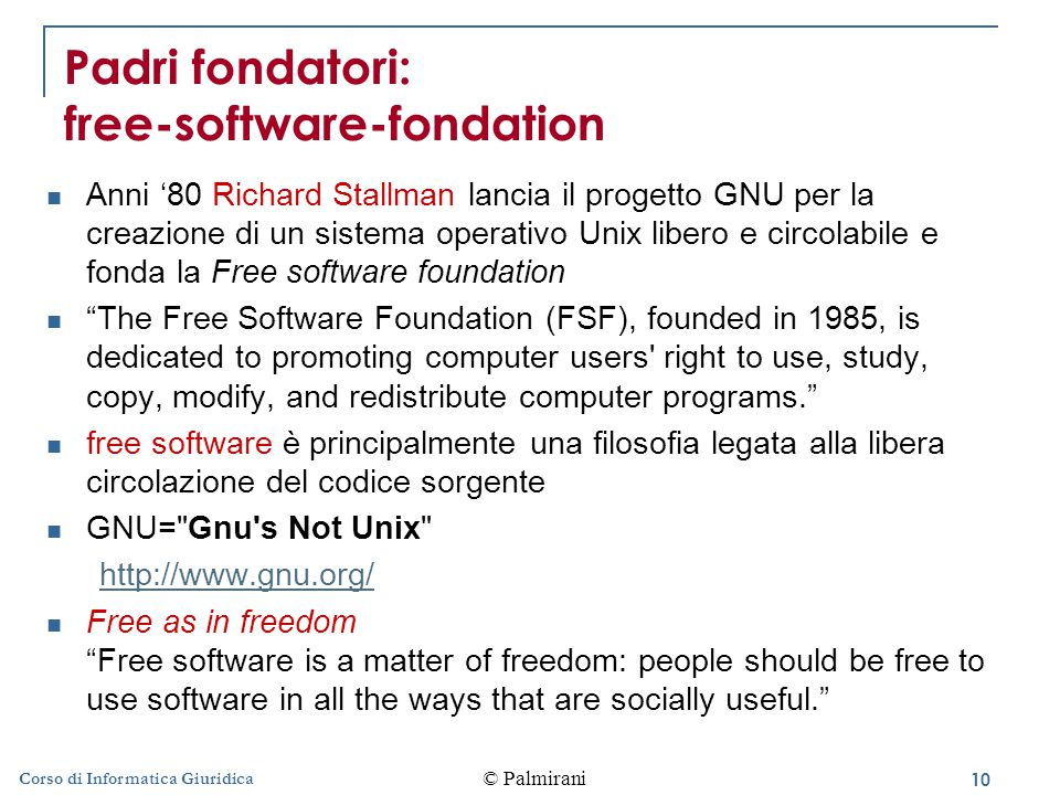 Padri fondatori: free-software-fondation