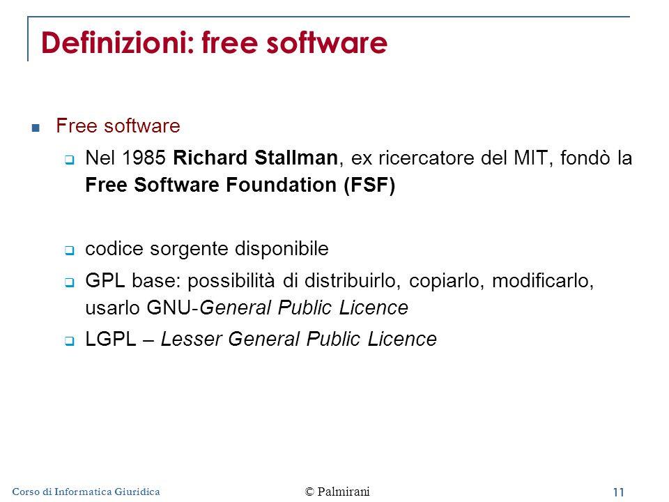 Definizioni: free software