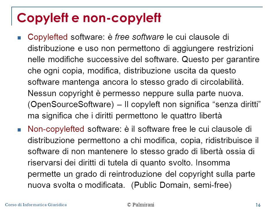 Copyleft e non-copyleft