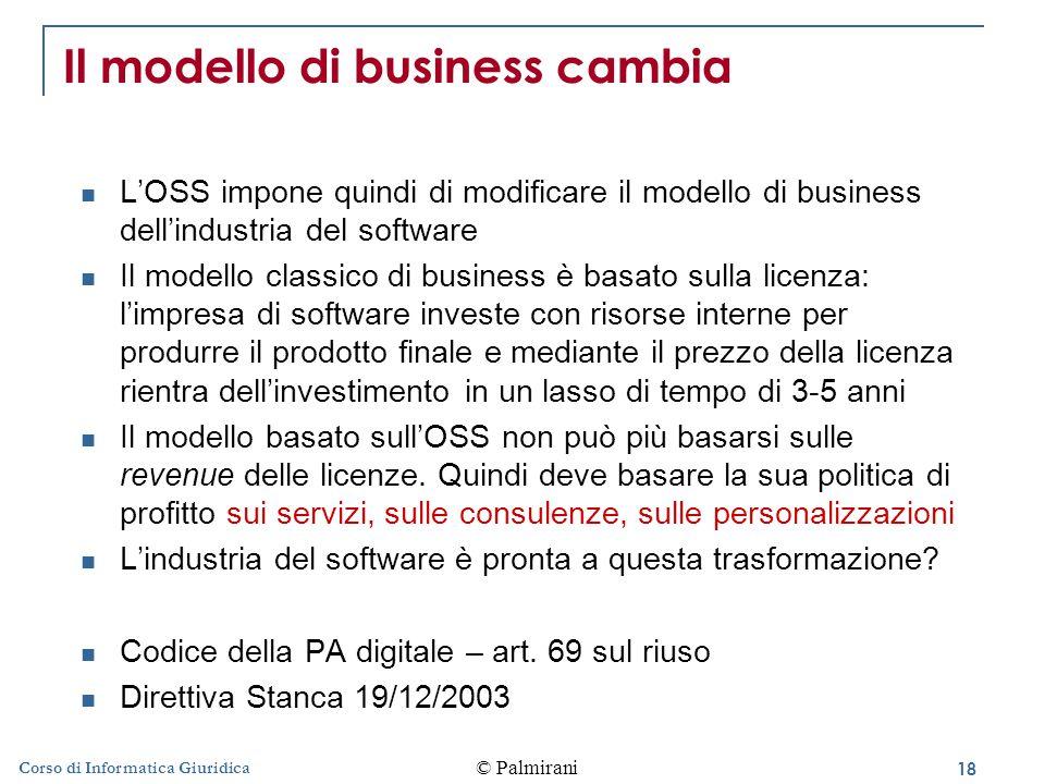 Il modello di business cambia