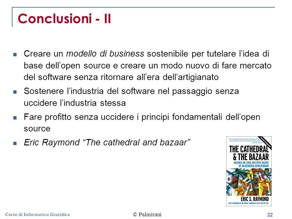 Conclusioni - II