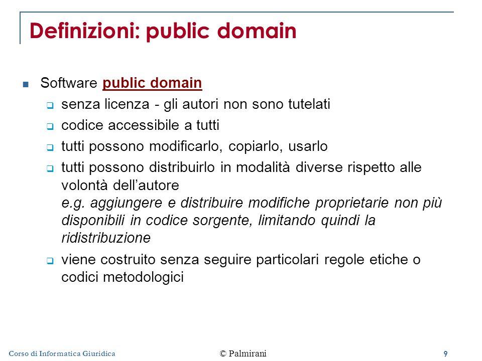 Definizioni: public domain