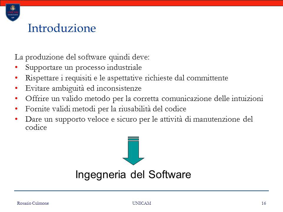 Introduzione Ingegneria del Software
