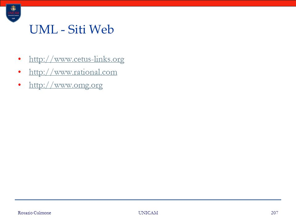 UML - Siti Web http://www.cetus-links.org http://www.rational.com