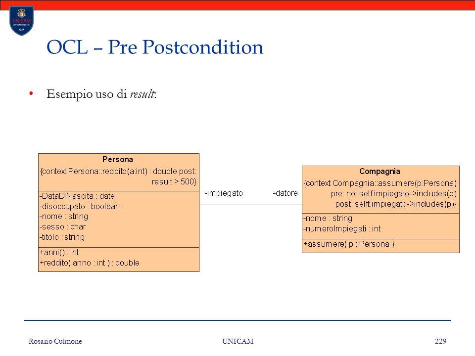 OCL – Pre Postcondition
