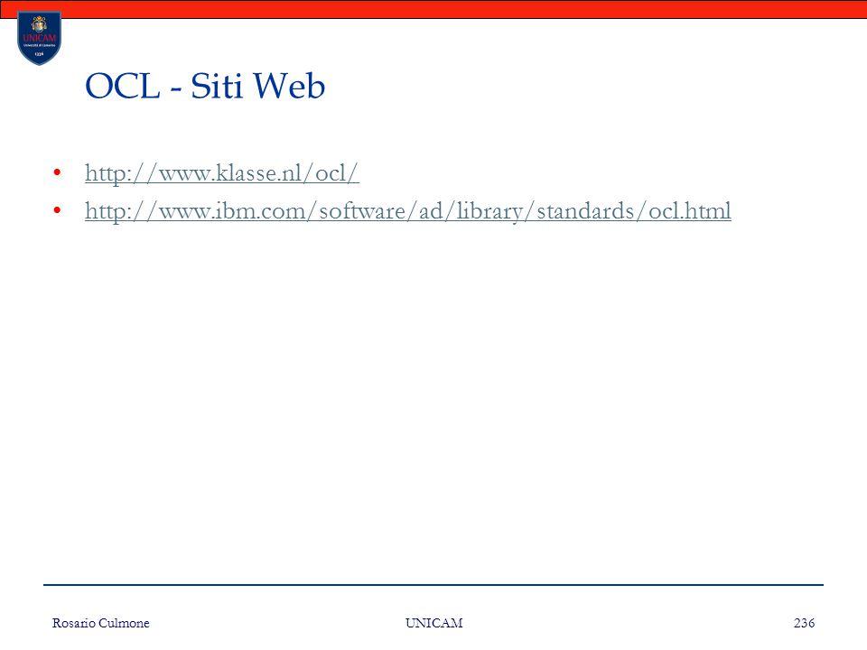 OCL - Siti Web http://www.klasse.nl/ocl/