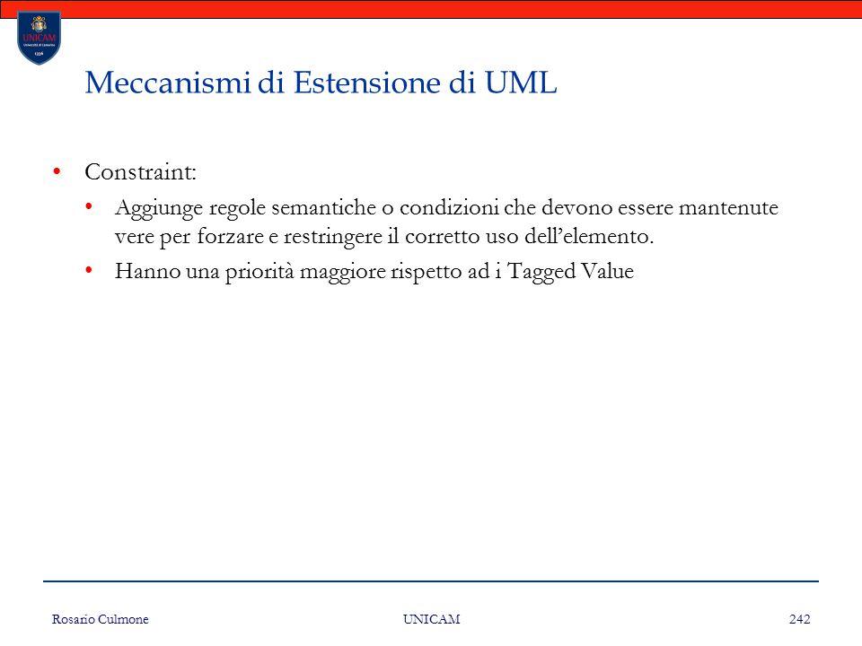 Meccanismi di Estensione di UML