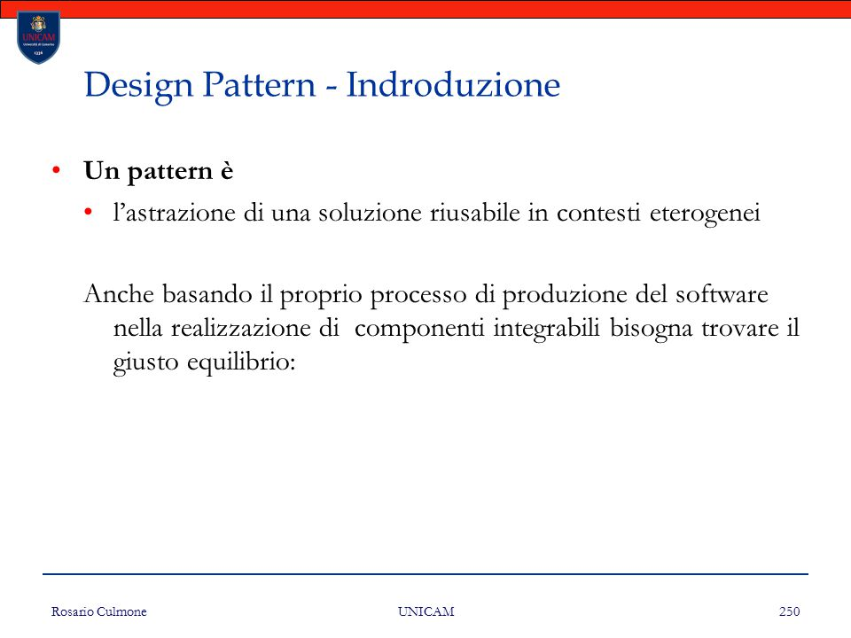 Design Pattern - Indroduzione