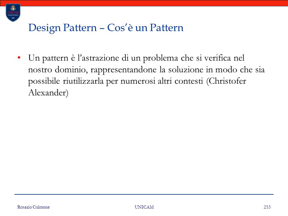 Design Pattern – Cos'è un Pattern