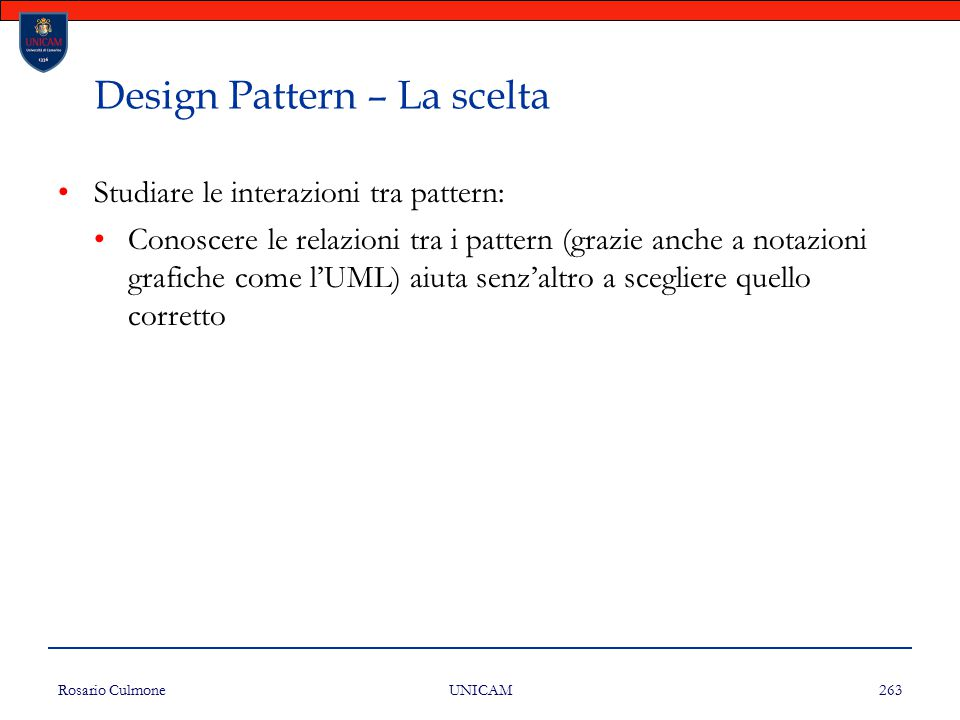 Design Pattern – La scelta