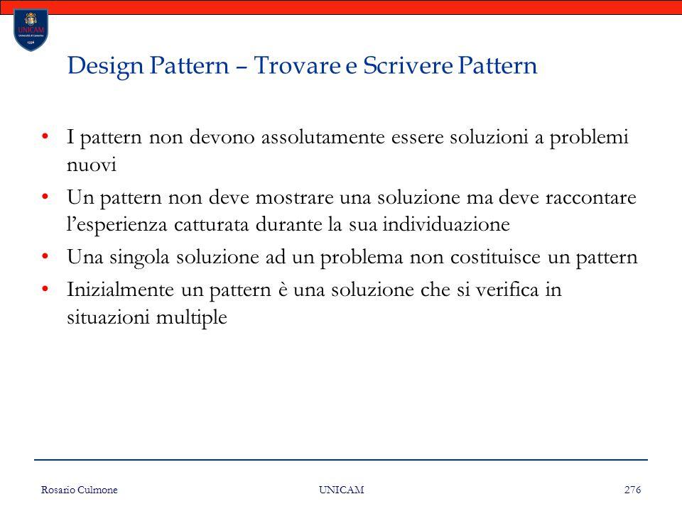 Design Pattern – Trovare e Scrivere Pattern