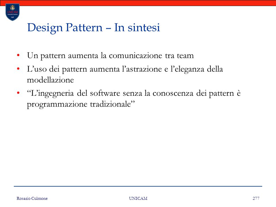 Design Pattern – In sintesi