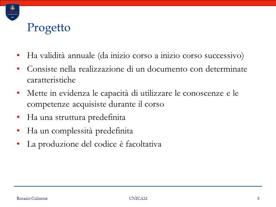 Progetto Ha validità annuale (da inizio corso a inizio corso successivo)