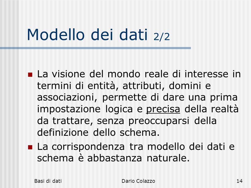 Modello dei dati 2/2